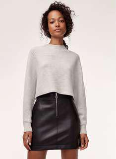 Wilfred Free Roxanne Vegan Leather Skirt