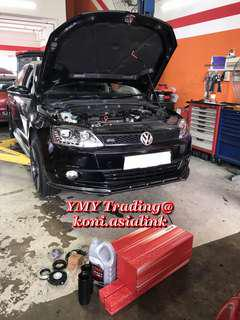 Jetta 1.4tsi in the house to replace existing suspension kit with Koni Special Active range (self adjustable damping feature -FSD technology) and eibach pro kit lowering spring setup for optimise street driving characteristics..