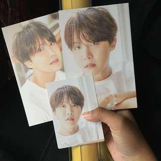 Ready Stock 오늘, 2018 BTS EXHIBITION Official MD J-Hope Hoseok Set Poster Postcard A & B Photocard Clipboard