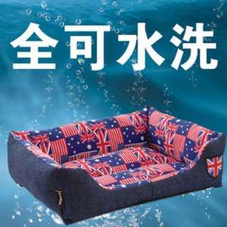L號米字旗寵物床~耐咬寵物床~耐磨寵物床