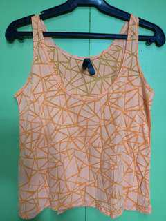 Neon Orange Sleveless Cover up