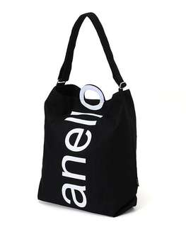 Baru Anello Authentic Tote Bag cotton canvas Logo 2WAY sling bag
