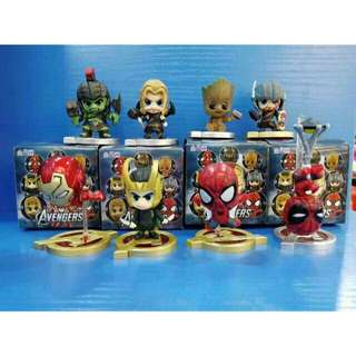 Avengers Toy Action Figure Blind Box Cosbaby Thor Spiderman Iron Man Hulk