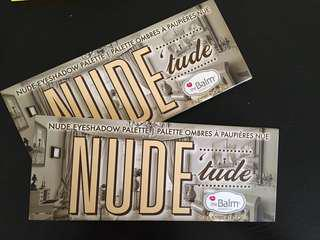 The Balm Nude Tude eye palettes