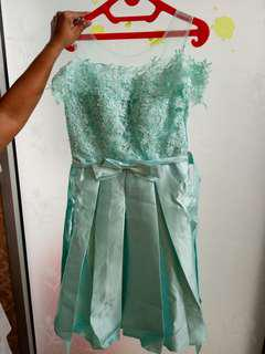 Dress Pesta Biru Muda