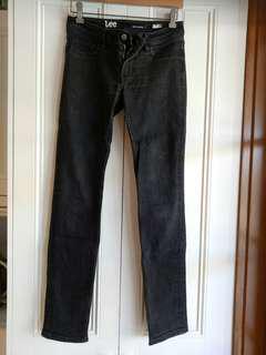Lee supa skinny black jeans