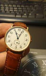 Solid gold Longines 34mm watch