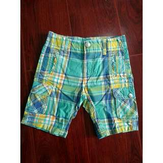 Kids Toddler Boy Walking Shorts Cargo Checkered Adjustable