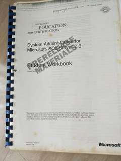 System Administrstion for Microsoft SQL Server 7.0