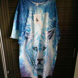 Brand New Plus Size White Tiger Top