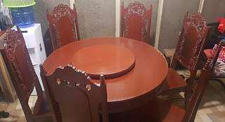 Round Dining Set 6-Seater Yakal