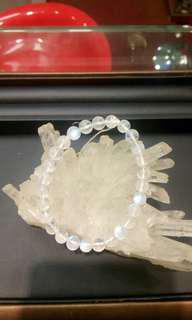 天然水晶  月亮石手串 7mm