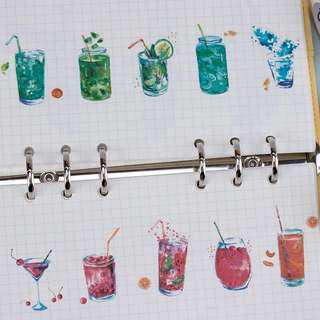 (PO) Summer Cocktails Washi Tape
