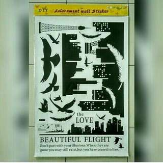 Stiker dinding beautiful flight