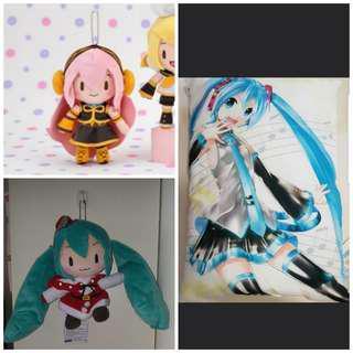 [Juniorcloset] 🆕 Authentic Hatsune Miku keychain Megurine Luka Fuwafuwa / Project Diva X HD pillow 初音ミク Anime pillow/ Vocaloid Miku Christmas plush keychain From$8