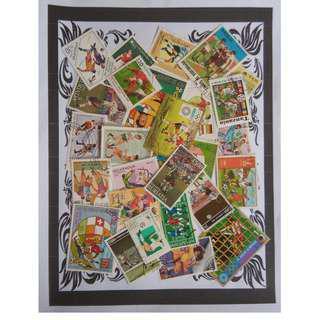 Themed stamps Footballs 30 pcs BM12