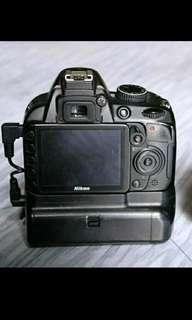 Body OnLy Nikon D3100 Baterai Grip Ori