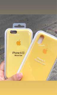 apple silicone case yellow/lemonade