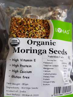 Organic Moringa Seeds $10.90/ pack $19.90-twin pack