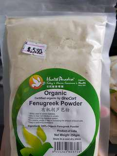 Organic Fenugreek Powder $5.50/ pack, $15-3packs
