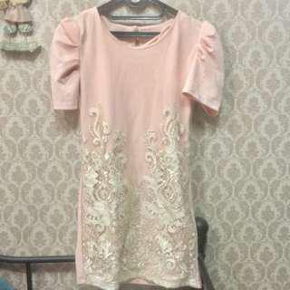 Dress korea soft pink