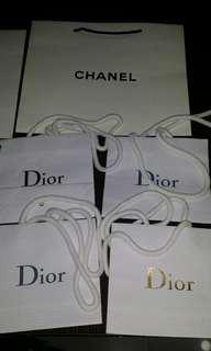 Chanel &dior paper bag(take all)