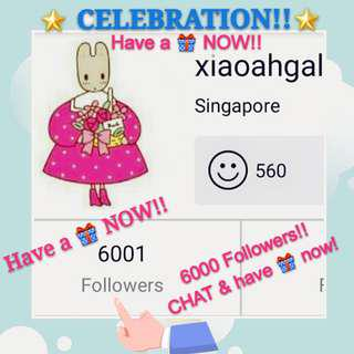 🌟CELEBRATION!!🌟🎂Brand New items between $5 - $200!🎂💖 THANK YOU to my 6000 Faithful Followers💖🎁CHAT to get your present now!!🎁