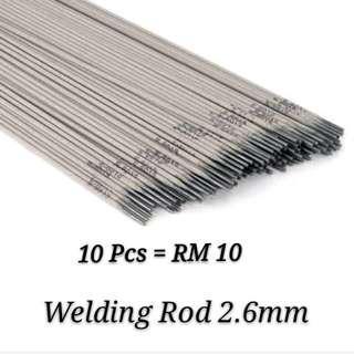 10 Pcs Welding Rod Steel 2.6mm MS6013