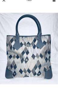 Gorgeous Authentic Vivienne Westwood Handbag. Argyle Print.