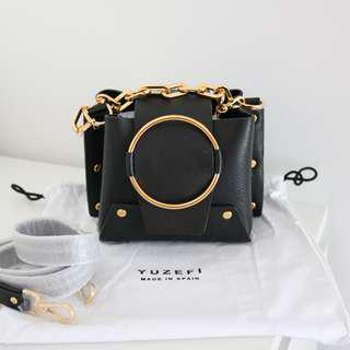 Yuzefi mini Delila metallic foldover shoulder bag