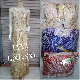 Mermaid dress/ evening gown/ gaun pesta Gold