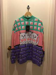 Lazy Oaf cat jumper/sweater/pullover