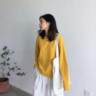 五色/秋天基礎系列棉料長袖TEE