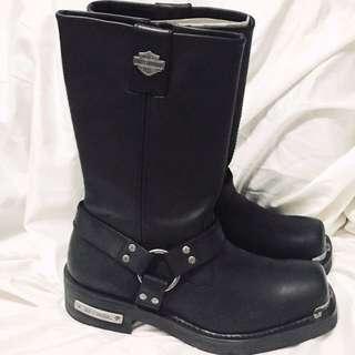 "NIB Men's Harley Davidson Black Leather Landon performance boots. Size 12. 10"""