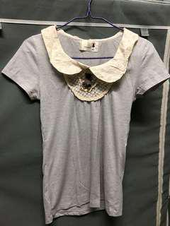 灰色 T恤