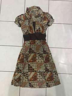 Dress Batik Terusan Batik