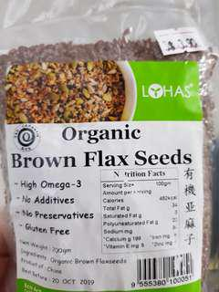 Organic Flax Seeds $3.90/ 1 pack. 3 packs for $10