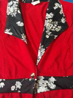 Blazer red flower cantik