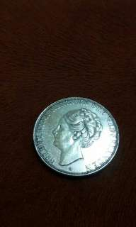 Uang perak wilhelmina 21/2 G thn 1933