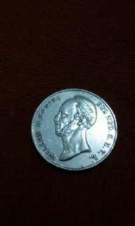 Uang perak Willem II Koning 21/2 G thn 1848