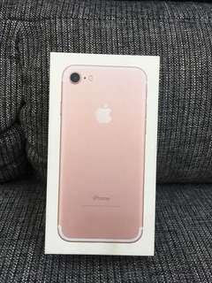 🚚 二手美機 IPhone7 128G玫瑰金粉 整新機