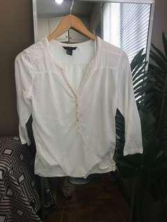 H&M White Button Top