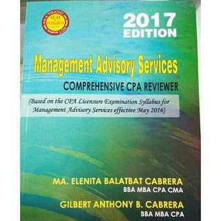 Original MAS Management Advisory Services Comprehensive CPA Reviewer Cabrera Cabrera