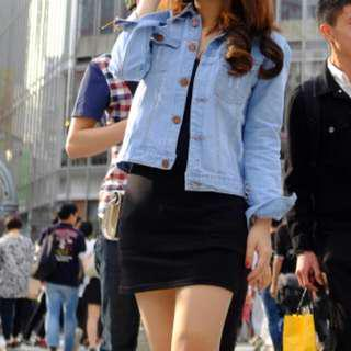 jacket jeans lightblue