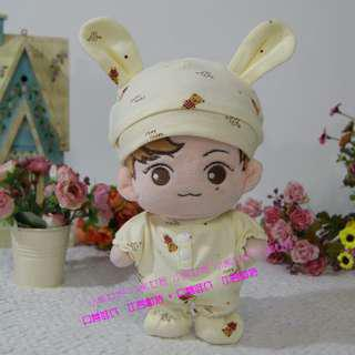 (EXO/bts/svt/wanna1) 20cm doll rabbit doll clothes