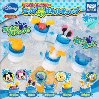 🚚 日本扭蛋🇯🇵迪士尼跳水屁屁瓶蓋-4款(米奇/米妮/史迪奇/唐老鴨)
