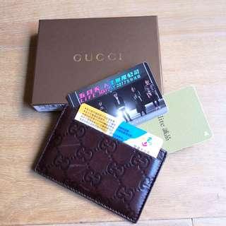🚚 Gucci 經典 名片夾 皮夾 錢包 皮套 正品 card holder wallet