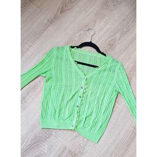 Green stabillo cardigan