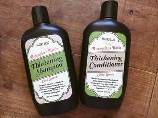 SLS FREE BIOTIN $19.90ea Ph balanced Cruelty free eco packaging therapeutic shampoo and conditioner fortified with BIOTIN, PANTHENOL, QUINOA, FLAX, VICIA FABA SEED, LOQUAT LEAF EXTRACRS for THICKER FULLER Healthier hair!