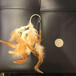 🚚 歐美羽毛耳掛式造型耳環